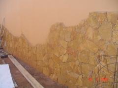 Colocando piedra en castillo