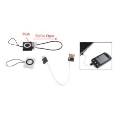 Cargador mini usb para telefono movil. podrá cargar su móvil a tiempo y hablar mientras recarga.