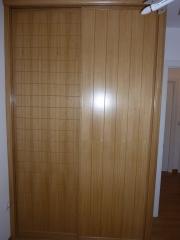 Frontal de armario corredera rechapado barnizado roble