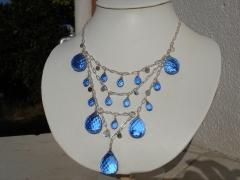 Collar de plata y cuarzo azul