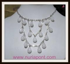 Collar de plata y jade blanco