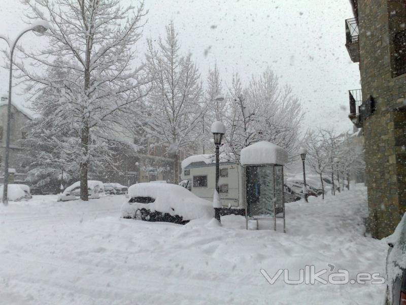 Exterior nevando