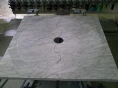 Plato de ducha blanco carrara.