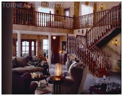 Escalera de madera, con Barandilla mo.109