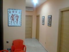 Pasillo de acceso a las salas de tratamiento