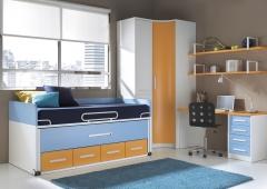 Dormitorio juvenil con infinitas posibilidades de medidas y una gran variedad de colores.  esta foto