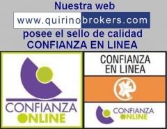 Quirino & brokers - sello calidad confianza on lne web www.quirinobrokers.com
