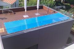 Lona protección piscina. nos adaptamos a cualquier forma