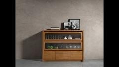 Mueble buffet aparador del catalogo roma en color nogal