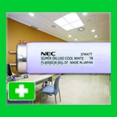Iluminaci�n fluorescente para hospitales