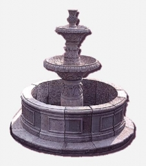 Fuente de piedra natural
