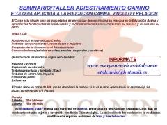 Seminario/taller adiestramiento canino en san sebastian etolcanin guipuzcoa 2011