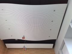 Techo pladur fon para absorción acústica.