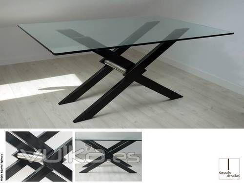 Foto: mesa de comedor o reuniones xendra  180x110 hierro lacado ...
