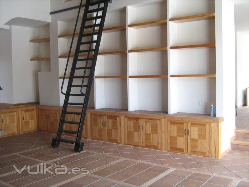 Foto muebles de obra realizados en pino - Muebles de obra para salon ...