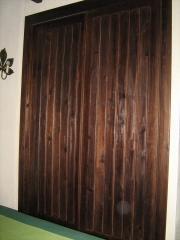 Armario pino envejecido color nogal-veta resaltada