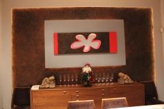 Mural en la cabecera del comedor
