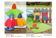Ponchos y mochilas infantiles para la playa