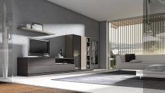 Composicion de muebles en color ceniza