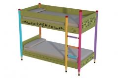 Litera infantil-juvenil educativa, montantes con formas de l�pices de colores
