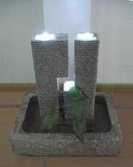 Fuente zhen de granito con luces led