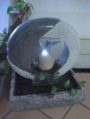 Fuente zhen de granito con luz led