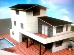 Proyecto 3d a partir del que estamos realizando una casa de nueva construcci�n steel framing