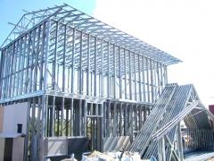Estructura de acero galvanizado para una casa steel framing