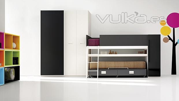 Foto muebles juveniles minimalistas con vinilos decorativos - Vinilos decorativos juveniles ...