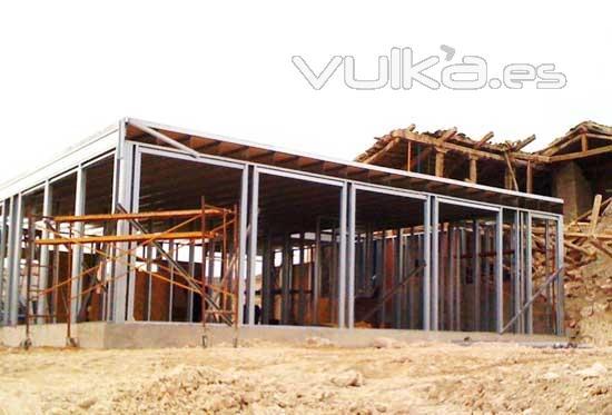 Foto estructura de acero galvanizado para una casa steel - Estructuras de acero para casas ...