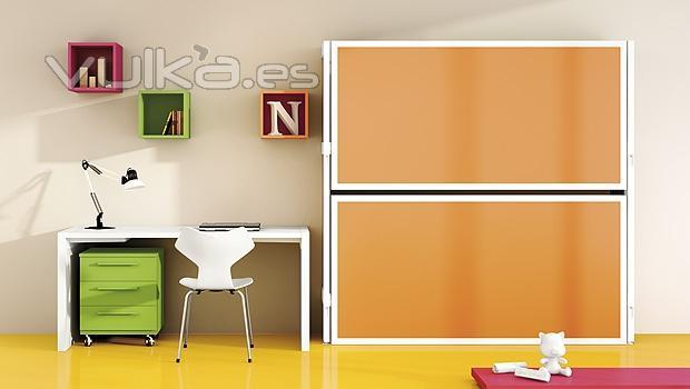 Foto habitacion juvenil con litera abatible doble - Habitacion juvenil doble ...
