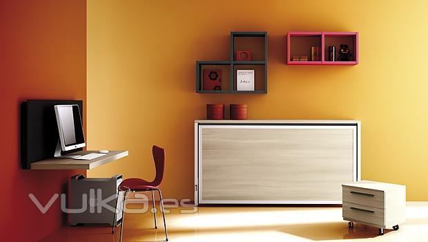 Foto cama abatible del catalogo de muebles juveniles joy for Muebles juveniles abatibles