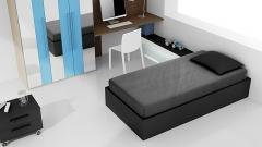 Catalogo de muebles juveniles con armario a franjas