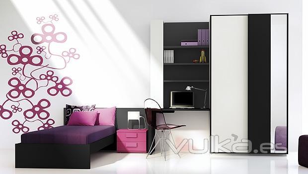 Foto muebles juveniles con vinilos decorativos for Vinilos decorativos dormitorios juveniles