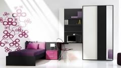 Muebles juveniles con vinilos decorativos