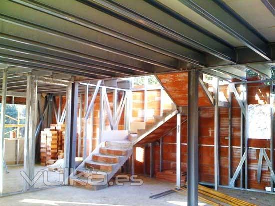 Foto detalle de la estructura de acero galvanizado para - Estructuras de acero para casas ...