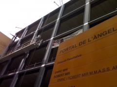 Andamios electricos zara barcelona portal del angel