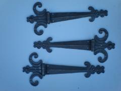Producto distribuci�n : bisagras forjadas decorativas, en 6 mm de espesor ideales para madera.