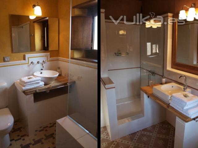 Cuartos De Baño Con Ducha Fotos: luminosos, además de espaciosos, con grandes duchas de obra