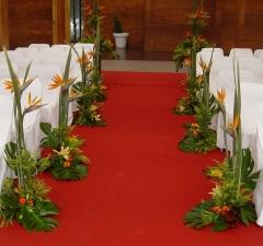 Mayula flores decoraci�n pasillo para ceremonia civil