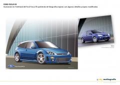 Ford focus rs ilustración en freehand partiendo de fotografía original con detalles modificados
