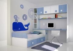 dormitorio juvenil rayado
