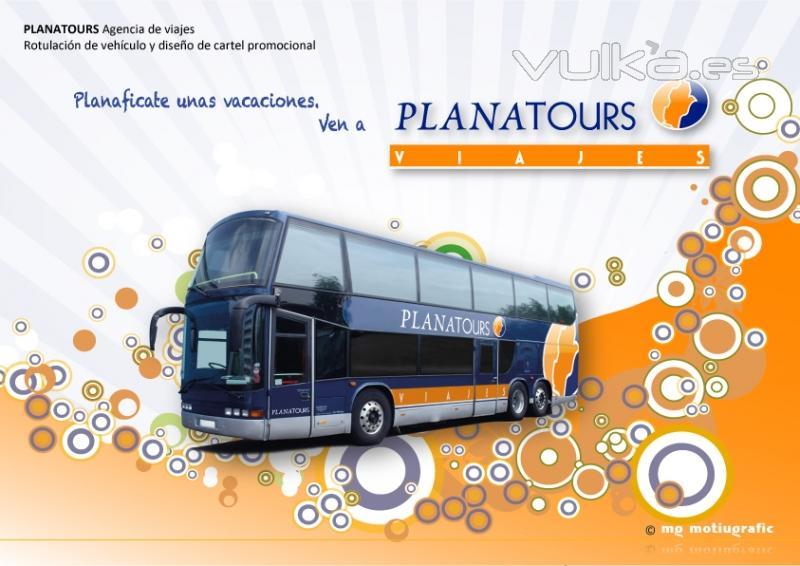 Foto: PLANATOURS Agencia de viajes. Diseño de cartel