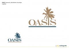 Oasis comercial y distribuidor de azulejos. diseño de logotipo