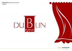 Dublin estil boutique de lencería. diseño de logotipo