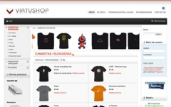 www.virtushop.net. Venta de articulos de regalo y estampacion textil personalizable.
