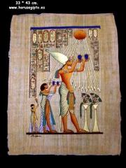 Papiro original egipcio de 33 x 43 cm