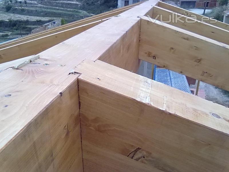 Tejados de madera cutecma for Tejados de madera vista