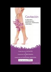 Promoción especial cavitación: adios a los centimetros de más.