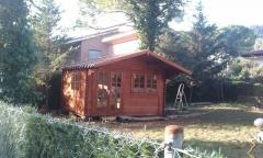 Caseta de jardin montada por EuroCasetas en Begues